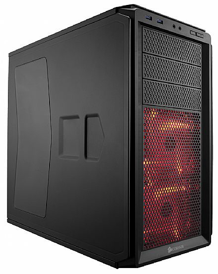 Gabinete Corsair 230T Windowed Compact - Black - USB 3.0 - CC-9011042-WW
