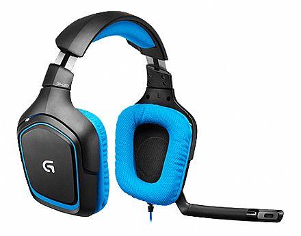 Headset Logitech G430 - Dolby® Surround 7.1 - USB - Controle de Volume e Mute