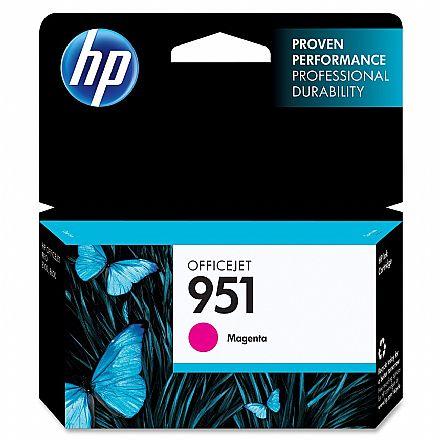 Cartucho HP 951 Magenta - CN051AB - Para HP 251DW, 276DW, N811, 8600, 8600Plus, 8610, 8620