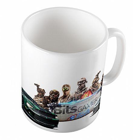 Caneca de porcelana - Bits Gamer