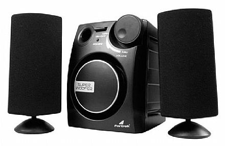 Caixa de Som 2.1 Fortrek SubWoofer Active System - 9W RMS - MS-2101