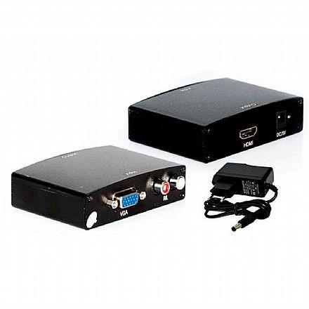 Conversor VGA para HDMI com Áudio Entrada RCA - Lotus AD0159C