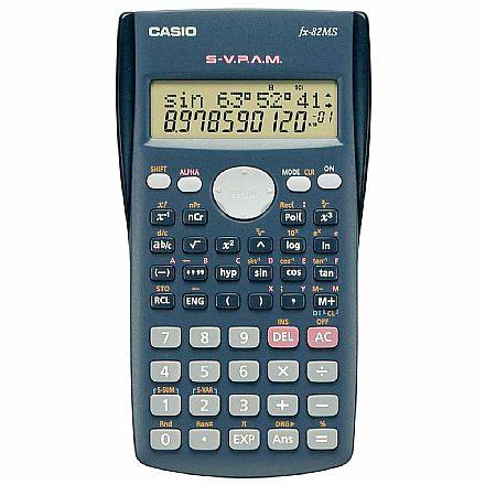 Calculadora Científica Casio - 12 dígitos - S-V.P.A.M - 240 Funções - Exibição em Matriz - FX-82MS