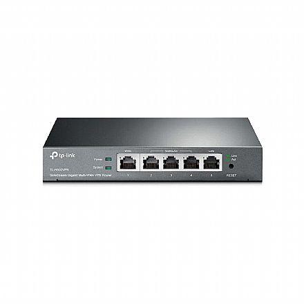 Roteador TP-Link TL-R600VPN - 1 porta Gigabit WAN + 4 portas Gigabit LAN - VPN IPsec / PPTP - Firewall SP