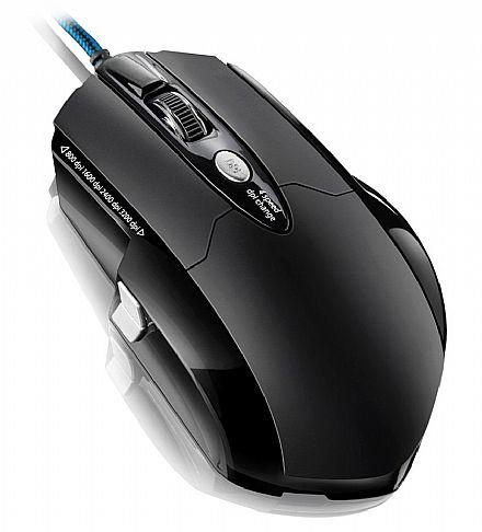 Mouse Gamer Multilaser Pro Laser - 3200dpi - 6 botões de controle - USB - MO191