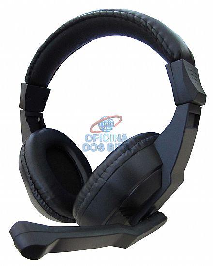 Headset Newdrive - Som Hi-Fi - com controle de volume - Preto