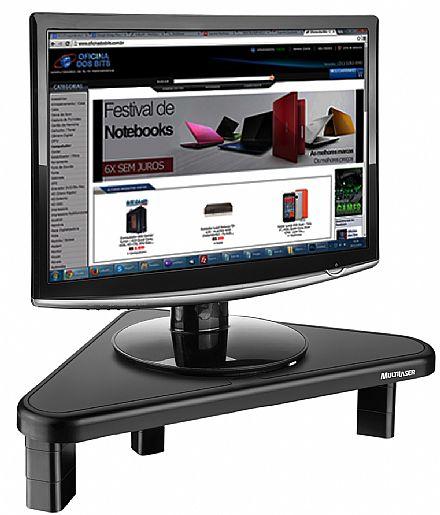 Suporte para TV/Monitor de Mesa - Triangular - 4 Níveis de Ajuste - Multilaser AC124