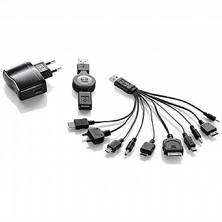Carregador de parede Universal - USB - PSPs, iPods e iPhones, diversos - C3 Tech UC-101