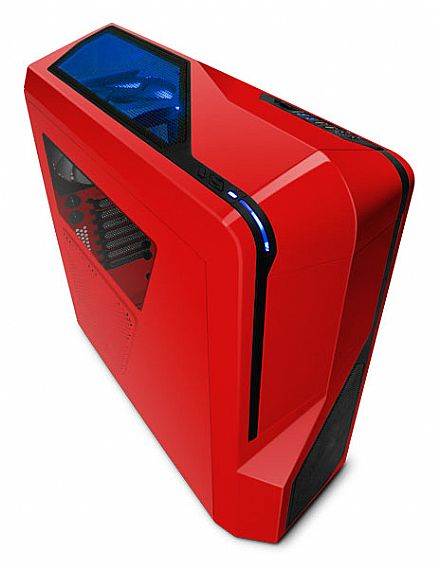 Gabinete NZXT Phantom 410 - Vermelho - USB 3.0 - Suporte para Water Cooler - CA-PH410-R1