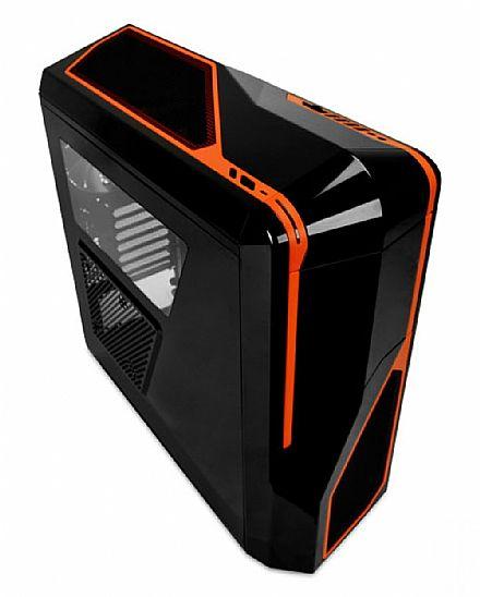 Gabinete NZXT Phantom 410 - Preto e Laranja - USB 3.0 - Suporte para Water Cooler - CA-PH410-B3