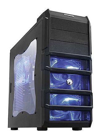 Gabinete PCYes Gamer Rhino - Janela Lateral em Acrílico - com LED Azul - Sem Fonte