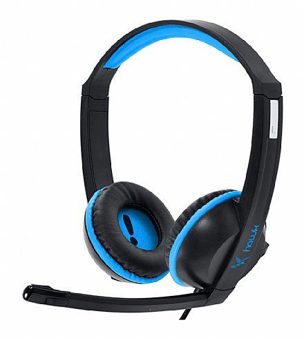 Headset Gamer PCYes Hawk - com controle de volume - Azul - 21834