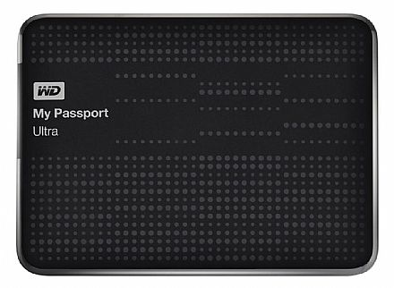 HD Externo Portátil 2TB My Passport Ultra - USB 3.0 - Western Digital WDBMWV0020BBK