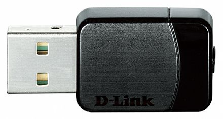 USB Adaptador Wi-Fi D-Link DWA-171 AC600 - Nano - Dual Band 2.4 GHz e 5 GHz - Tecnologia MU-MIMO - Botão Wi-Fi Protected Setup™ (WPS)
