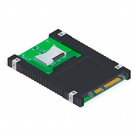 Conversor SDHC™ para SATA 2.5 Comtac 9289 - 2 slots para cartões SDHC