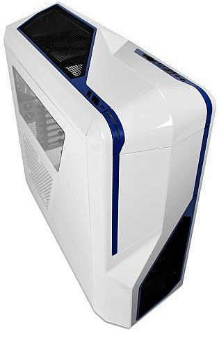 Gabinete NZXT Phantom 410 - USB 3.0 - Suporte para Water Cooler - Branco e Azul - CA-PH410-W2