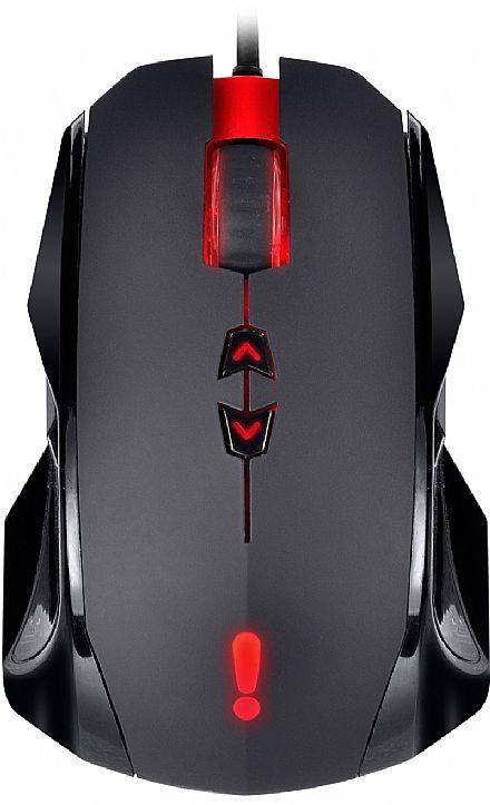 Mouse Gamer PCYes Orion - 3500dpi - 6 botões Programáveis - com LED de Iluminação Interna