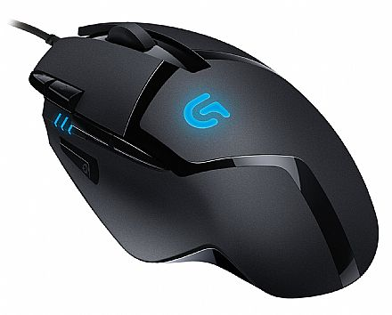 Mouse Gamer Logitech G402 Hyperion Fury - 4000dpi - 8 botões programáveis