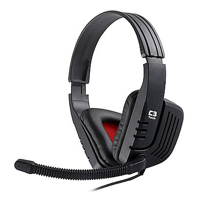 Headset C3 Tech Gamer Predator - com Controle de Volume - Conector 3.5mm - MI-2558RB