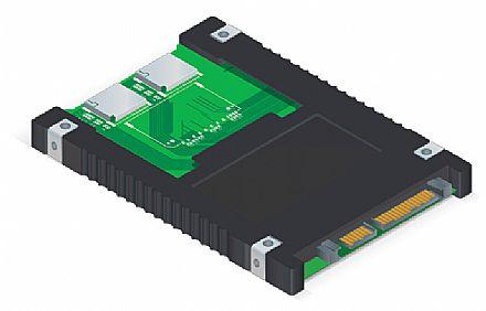 Conversor SDHC™ para SATA 2.5 Comtac 9290 - 4 slots para cartões SDHC