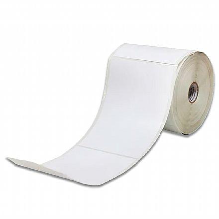 Rolo Etiqueta Adesiva 100 x 140mm - couchê - Branca - ideal para Correios - para Impressora Térmica