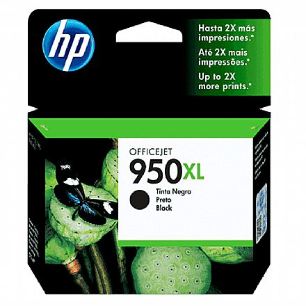 Cartucho HP 950XL Preto - CN045AB - Para HP 251DW, 276DW, N811, 8600, 8600Plus, 8610, 8620