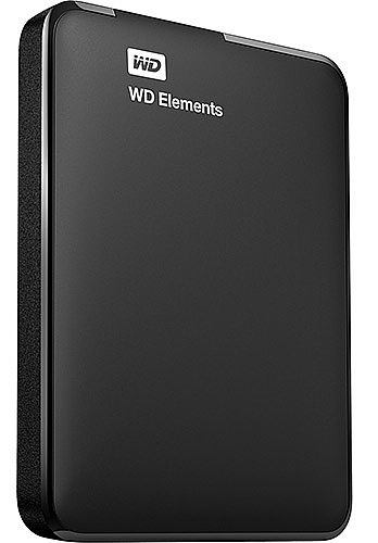 HD Externo Portátil 1TB Western Digital Elements - USB 3.0 - WDBUZG0010BBK