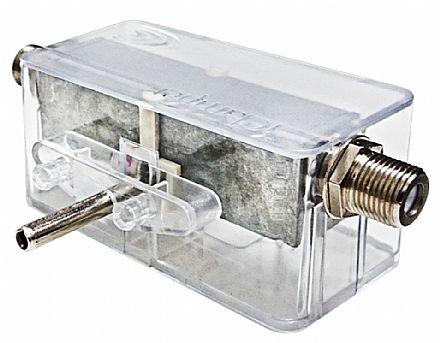 Plug iClamper Cabo - Proteção coaxial - DPS - Transparente