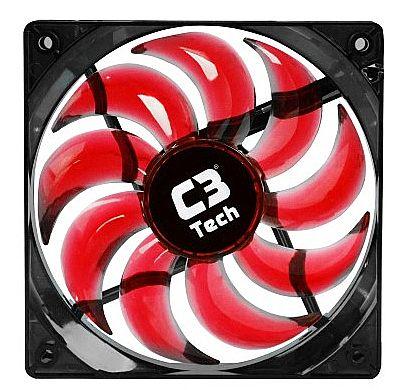 Cooler 120x120mm C3 Tech Storm - com LED Vermelho - F9-L100RD