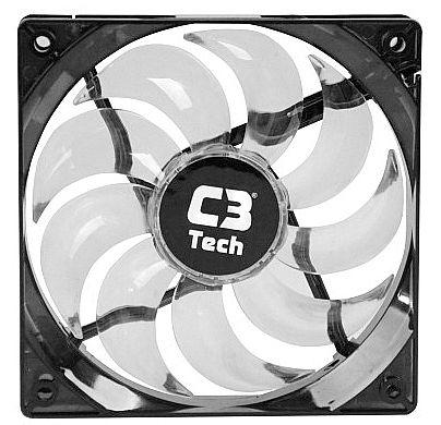 Cooler 120x120mm C3 Tech Storm - com LED Branco - F9-L100WH
