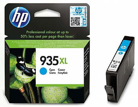 Cartucho HP 935XL Ciano - C2P24AL - Para HP Officejet Pro 6830 / HP Officejet Pro 6230