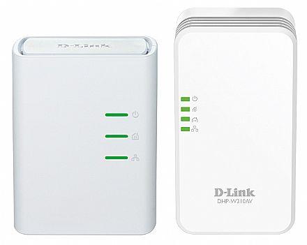 Extensor de Alcance Wi-Fi PowerLine D-Link AV500 DHP-W311AV - 300Mbps - Kit - Transforme sua Rede Elétrica em uma Rede de Internet