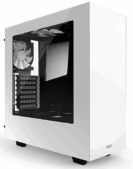 Gabinete NZXT S340 - Janela Lateral em Acrílico - USB 3.0 - Branco - CA-S340W-W1