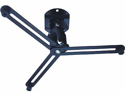 Suporte Projetor de Teto - Articulado - Preto - Brasforma SBRP757