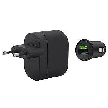 Kit Carregador 2 em 1 para Celular - Veicular e parede - USB - 1A - Belkin F8M124