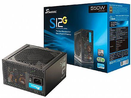 Fonte 550W Seasonic G Series - PFC Ativo - 80 Plus Gold - Modular - SSR-550R