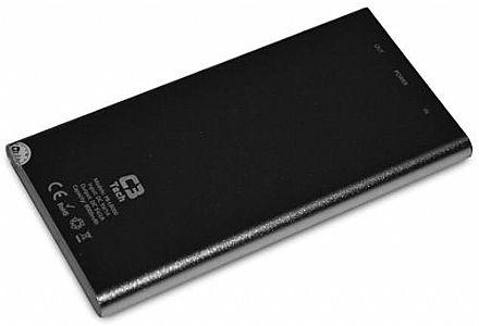 Power Bank Carregador Portátil C3 Tech PB-L8000 SI - Bateria Externa 8000mAh - USB - para Smartphones, Tablets