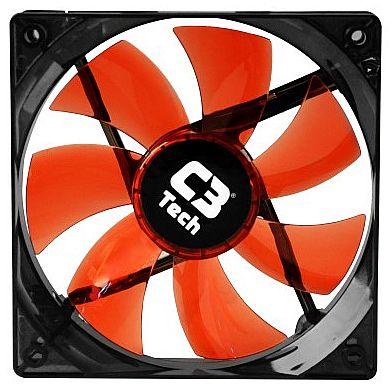 Cooler 120x120mm C3 Tech Storm - com LED Vermelho - F7-L100 RD