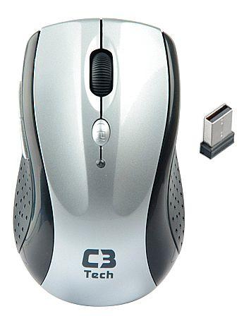 Mouse sem Fio C3 Tech M-W012 SI - 2.4GHz - 1600dpi - Prata