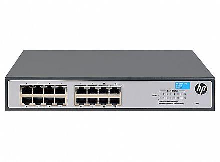 Switch 16 portas HPE Aruba 1420-16G - 16 portas Gigabit - JH016A