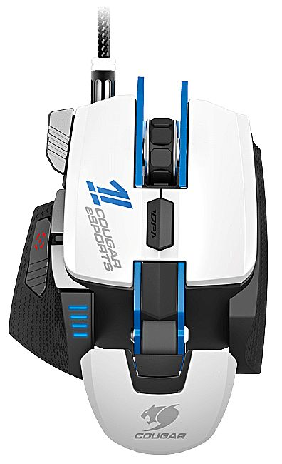 Mouse Gamer Cougar 700M e-Sports - 8200dpi - 8 botões - com LED - 1ms - Branco