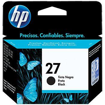 Cartucho HP 27 Preto - C8727AB - HP Deskjet 3320 / 3420 / 3425 / 3520 / 3550 / 3620 / 3650 / 3651 / 3740 / 3745 / 3747 / 3843 / 3845 /3847 / 4315 / 5605 / 5610 / 1240 / 1311 / 1315