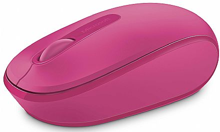 Mouse sem Fio Microsoft 1850 - 2.4GHz - Rosa - U7Z-00062