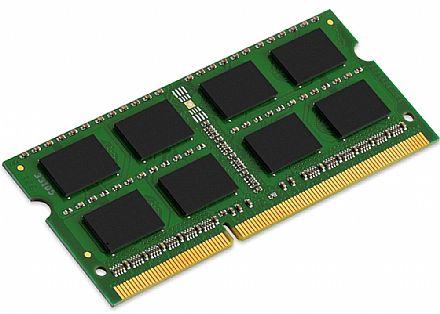 Memória SODIMM 8GB DDR3 1600MHz Kingston - para Notebook - Latência CL11 - 1.5V - KVR16S11/8