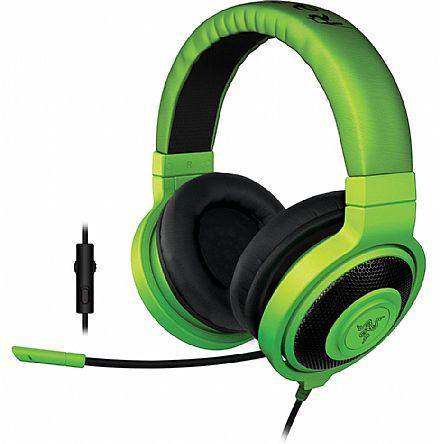 Headset Razer Kraken Pro - com controle de volume - Verde - RZ04-01380200-R3U