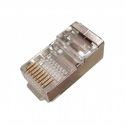 Plug Conector RJ45 Macho Cat 5 8 vias - Blindado - CY-7014
