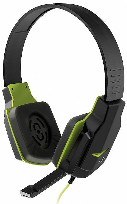 Headset Multilaser PH146 - com Controle de Volume - Conector 3.5mm - Verde