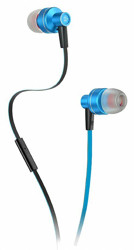 Fone de Ouvido Multilaser Pulse PH157 - com Microfone - Azul e Preto