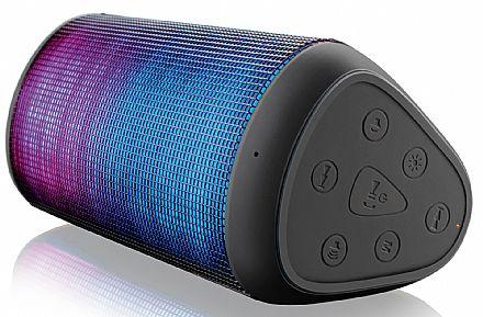 Caixa de Som Bluetooth Multilaser SP192 - Conectividade NFC, Bluetooth 4.0, Micro SD - Bateria de Lítio Recarregável