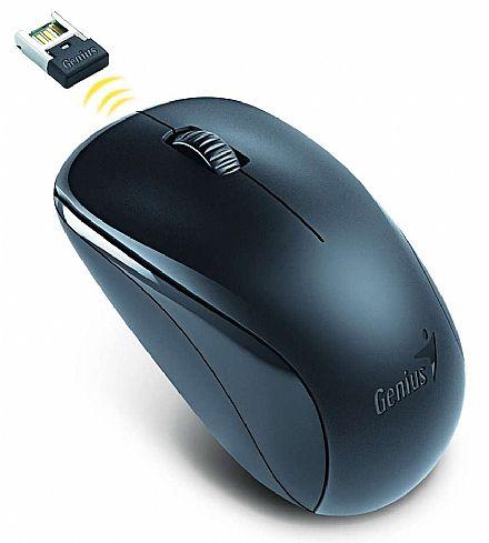 Mouse sem Fio Genius NX-7000 - 1200dpi - Preto - 31030109117
